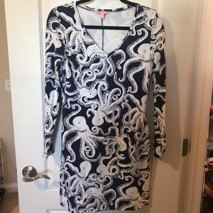 Lilly Pulitzer Long Sleeved Octopus Dress